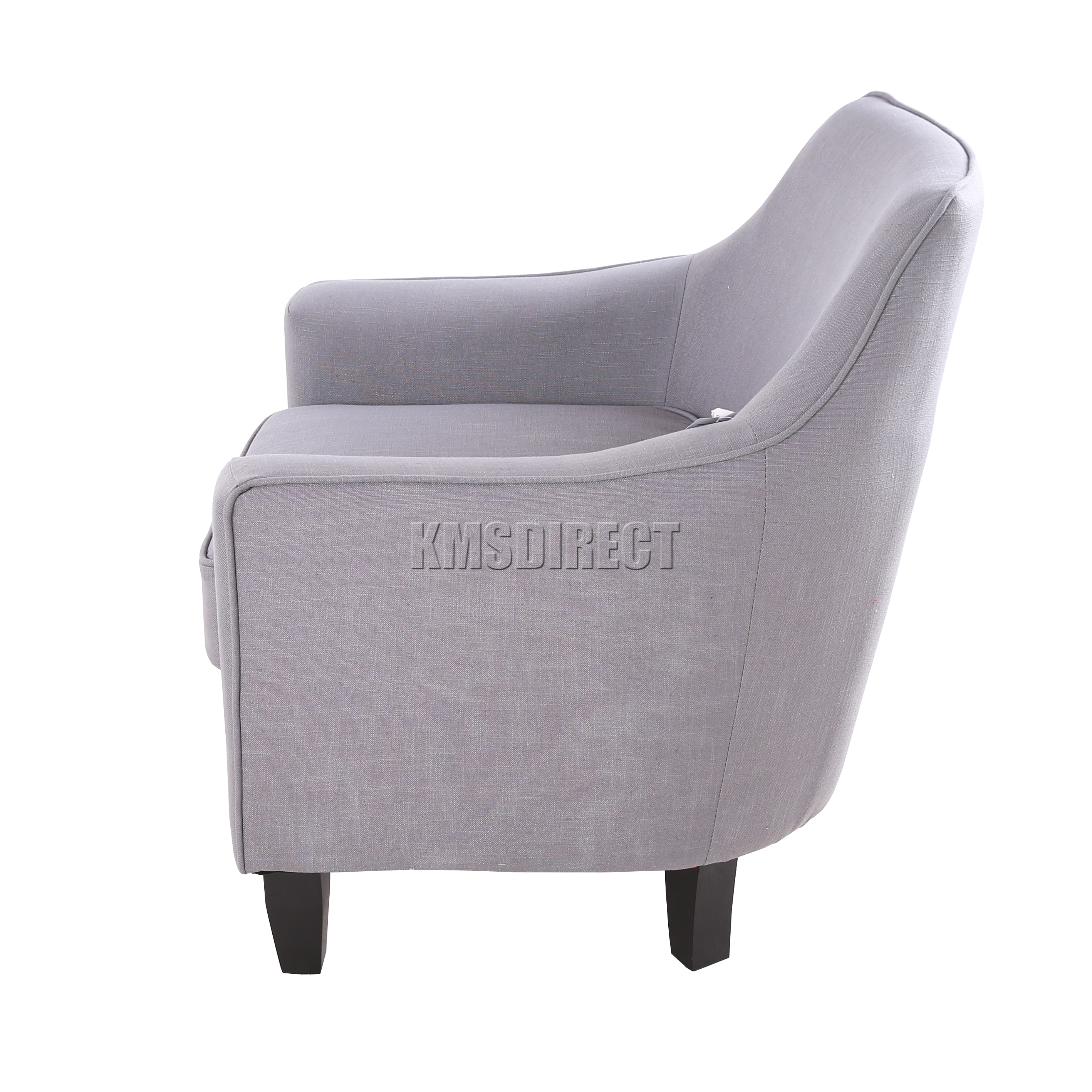 tub chair grey covers in birmingham foxhunter linen fabric armchair dining living