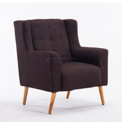 Living Room Chairs Uk Chair Rail Molding Lowes Foxhunter Linen Fabric Tub Armchair Dining