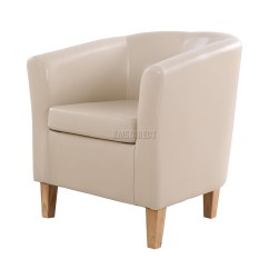 Leather Tub Chair Wedding Covers In Surrey Foxhunter Ivory Faux Armchair Dining