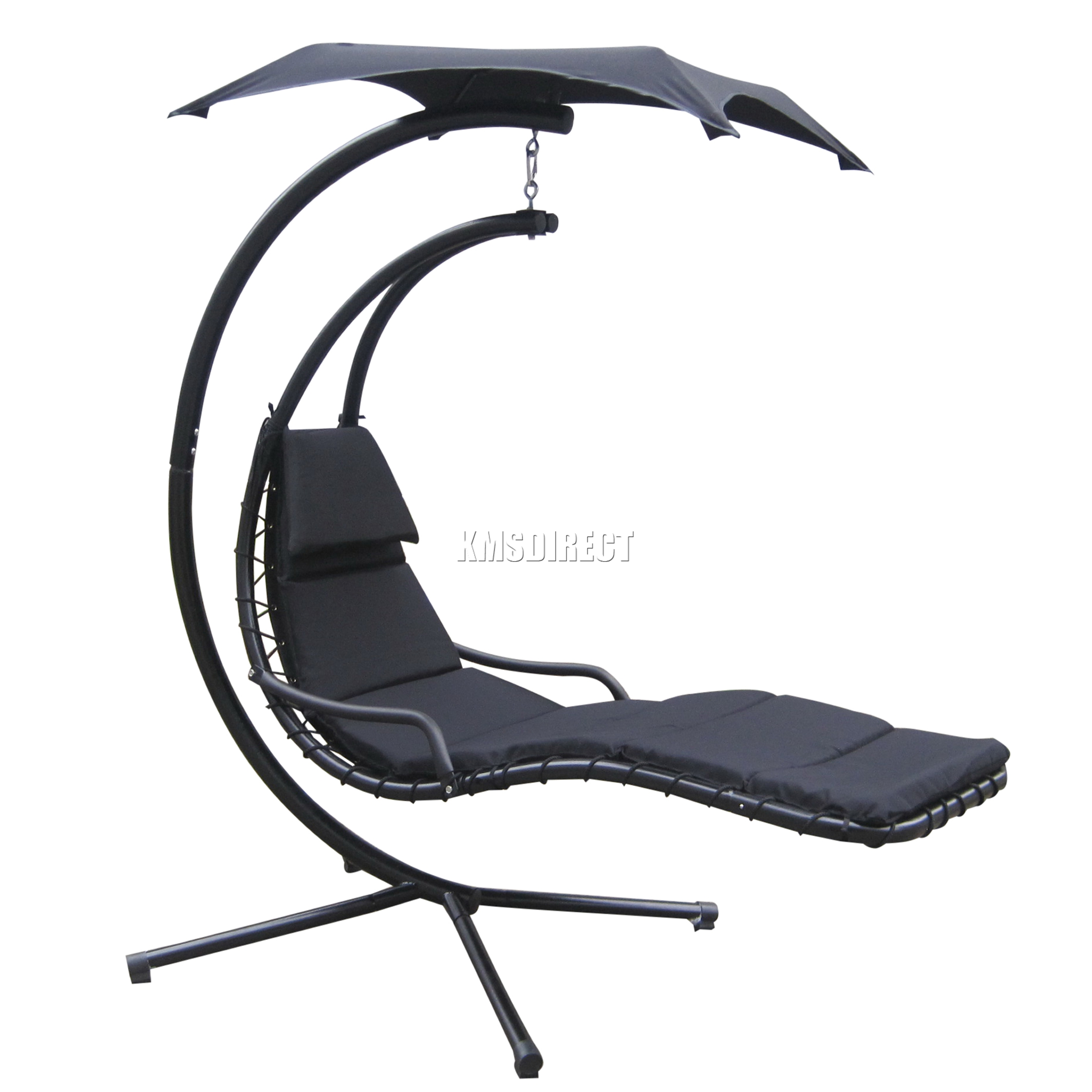 Black Hanging Chair Foxhunter Garden Swing Hammock Helicopter Hanging Chair