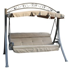 Swing Chair Office Wheelchair Pics Foxhunter Garden Metal Hammock 3 Seater Bench