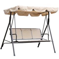 Swing Chair Steel That Hangs From Ceiling Foxhunter Beige Garden Metal Hammock 3 Seater
