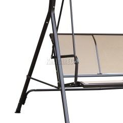 Swing Chair Deals Covers Telford Foxhunter Beige Garden Metal Hammock 3 Seater