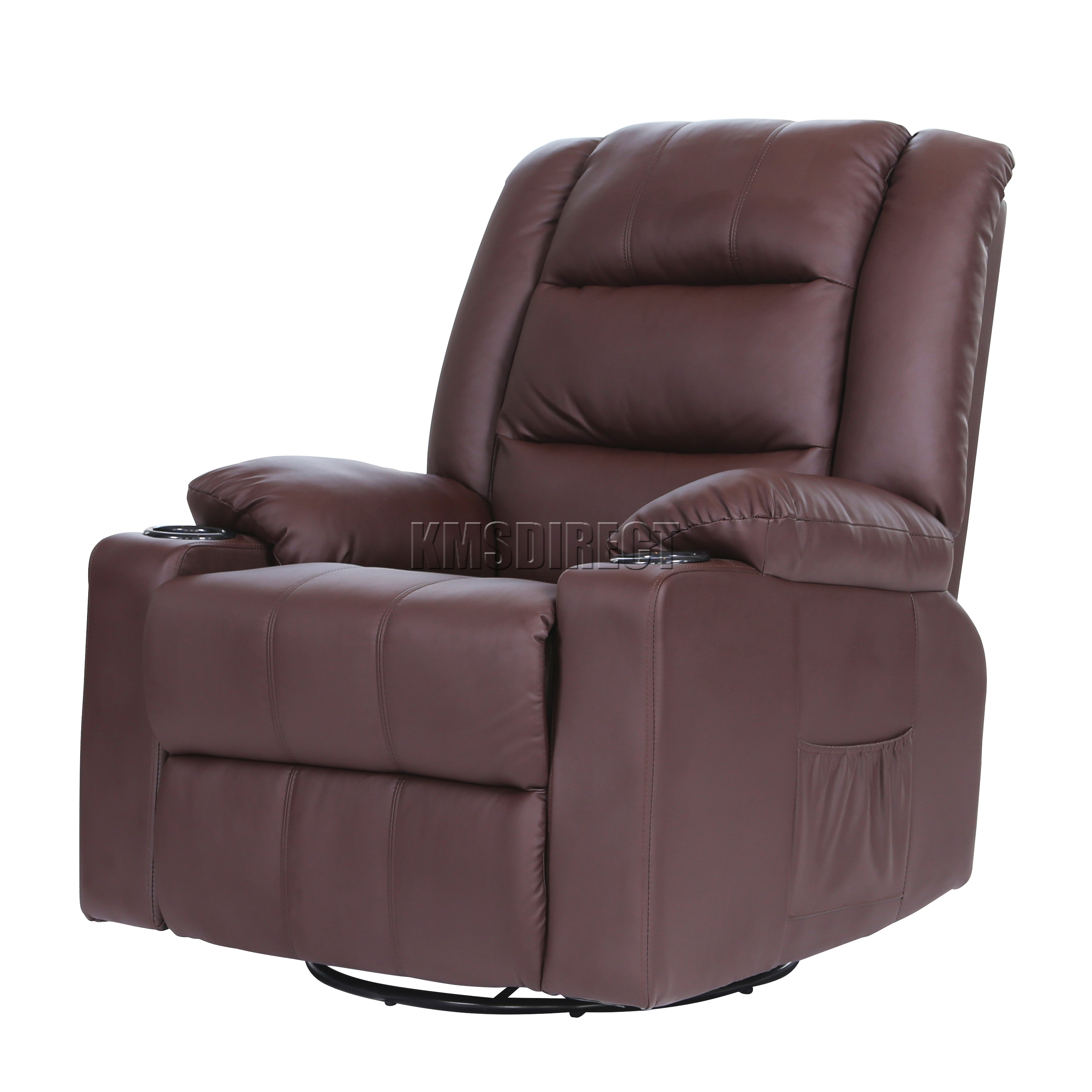 brown leather recliner sofa uk polish for sofas foxhunter massage cinema chair