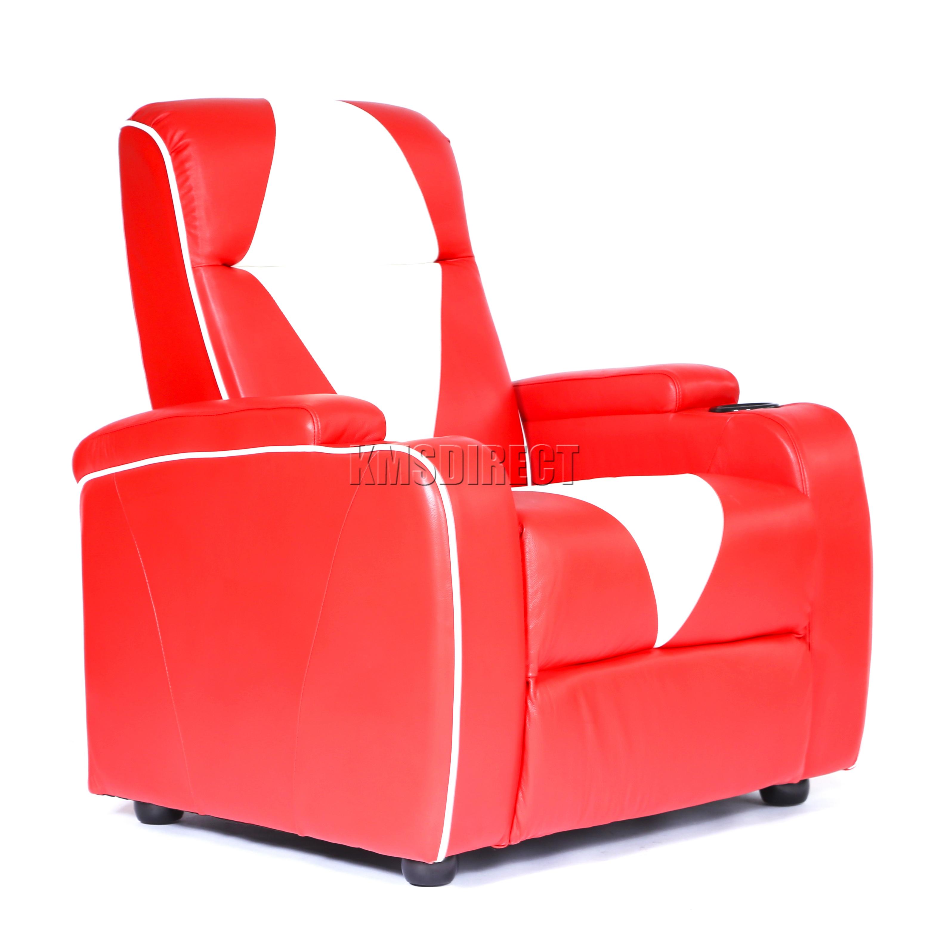 retro white chair flexible folding foxhunter leather theatre cinema movie sofa