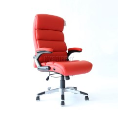 Red Swivel Desk Chair R Underwater Foxhunter Computer Executive Office Pu Leather