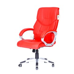 Red Swivel Desk Chair Patio Chairs At Target Foxhunter Computer Executive Office Pu Leather