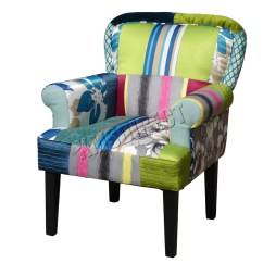 Office Chair Covers Uk Dallas Cowboys Folding Arm Foxhunter Patchwork Fabric Vintage Armchair Seat