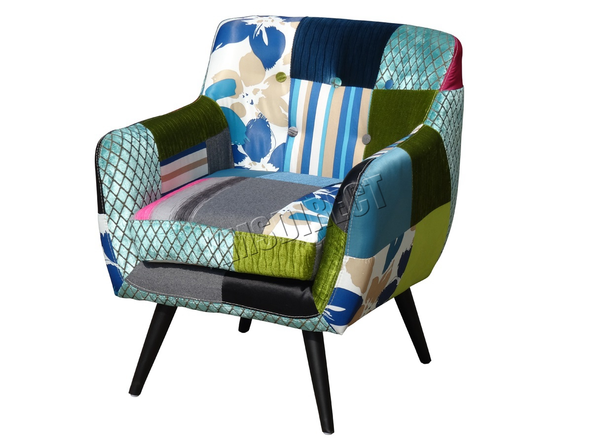 office chair upholstery fabric covers for wedding rental foxhunter patchwork vintage armchair seat