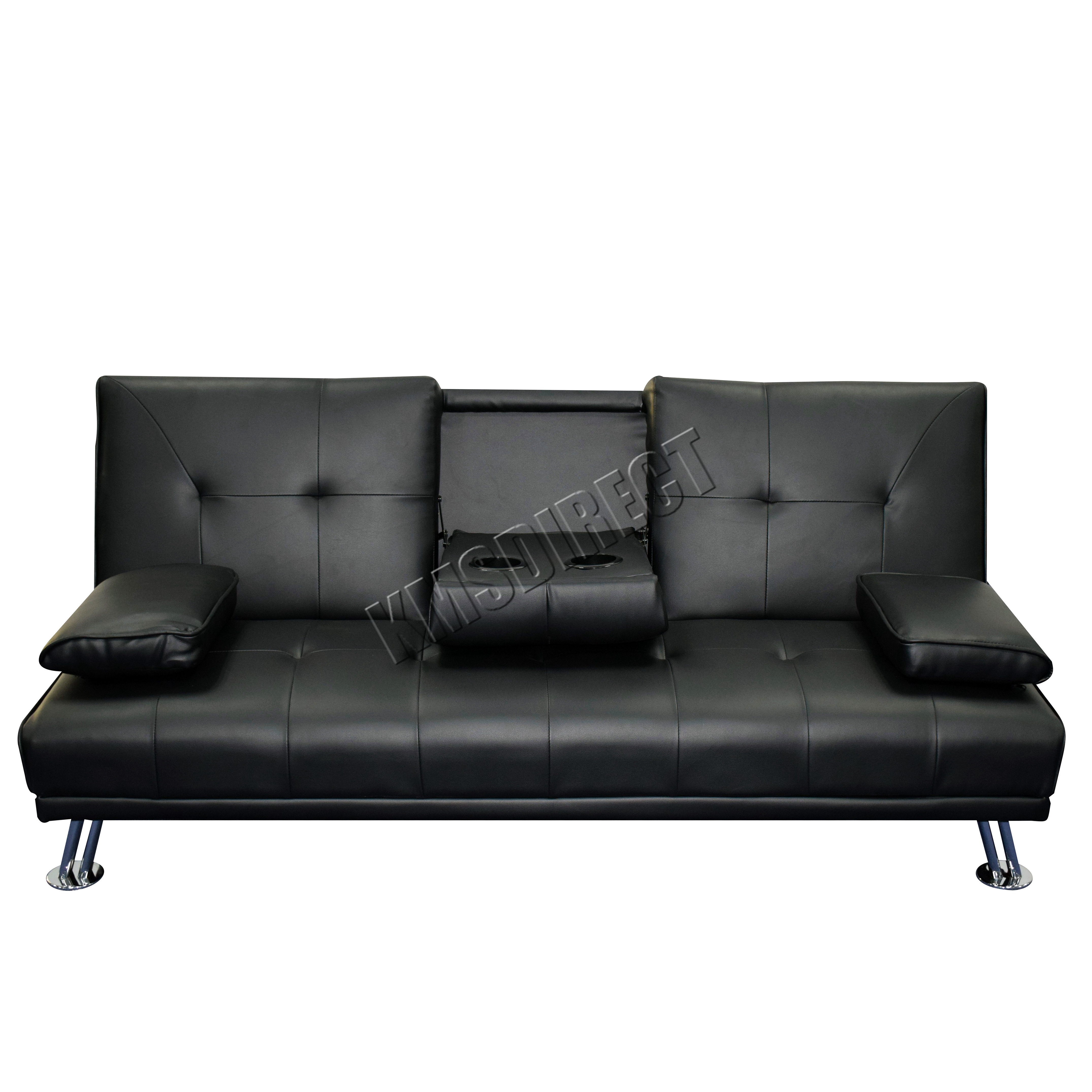 leather 3 seat sofa bed ashley manor reviews faux manhattan recliner seater modern