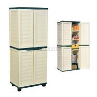 Starplast Outdoor Plastic Garden Utility Cabinet With 4 ...