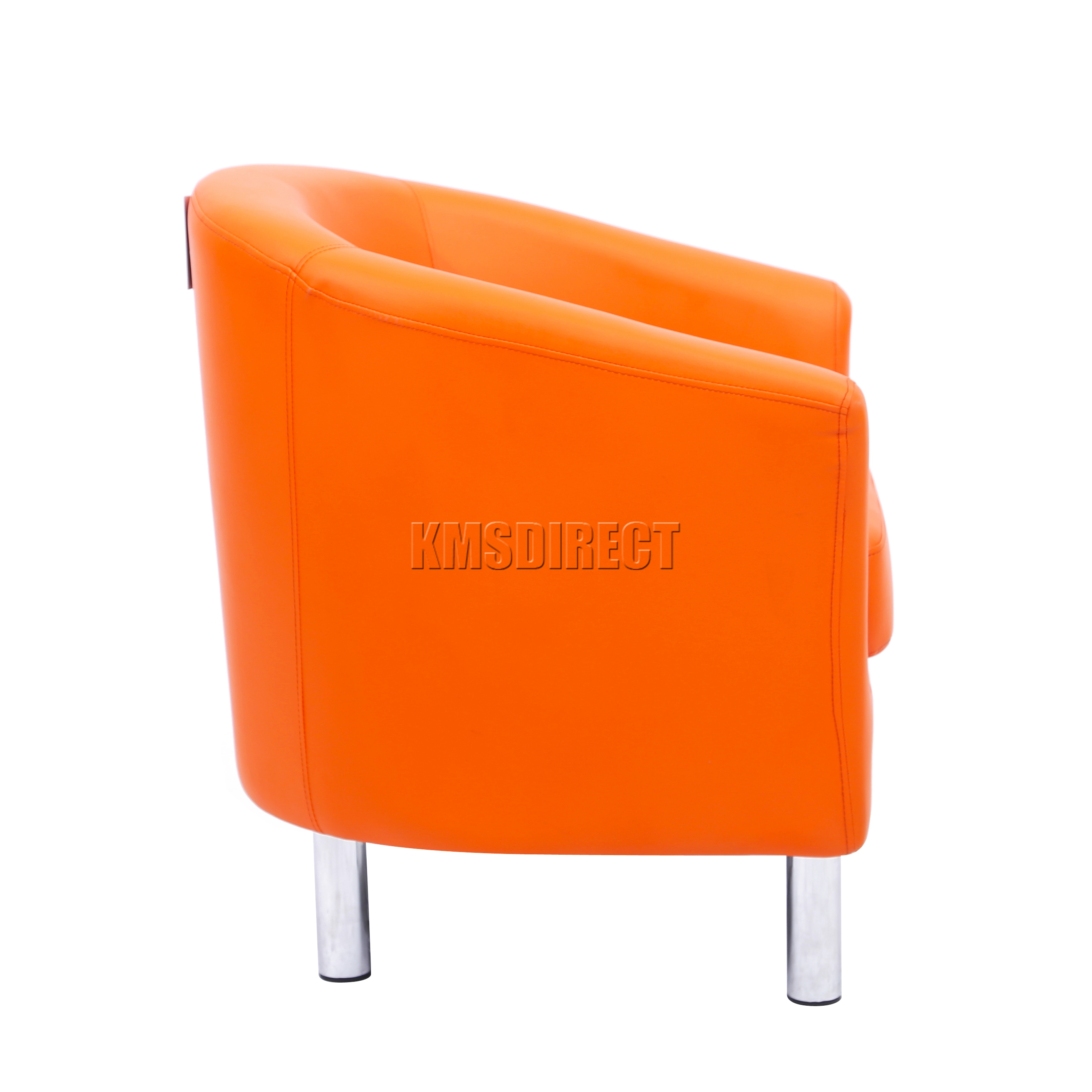 orange bucket chair boston interiors and a half foxhunter modern tub armchair pu faux leather chrome