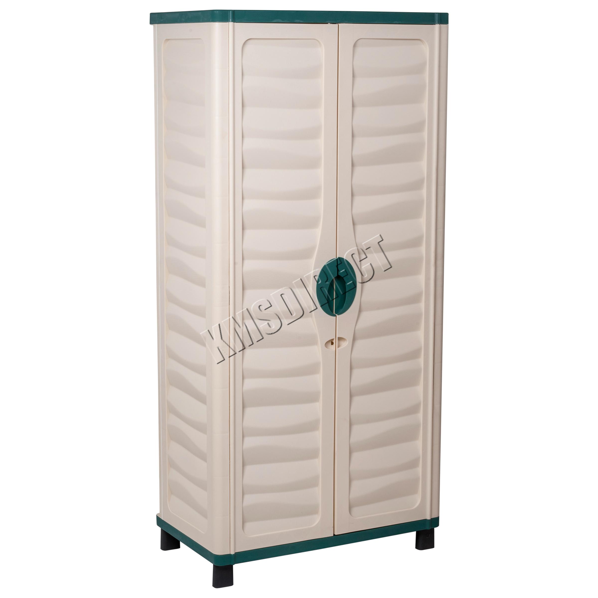 Starplast Outdoor Plastic Garden Utility Cabinet With