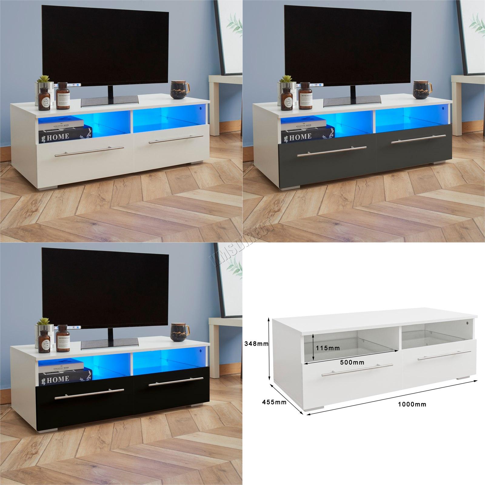 details sur westwood moderne del meuble tv stand armoire brillant portes mat cabinet tvc04 afficher le titre d origine