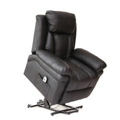 Handicap Lift Chair Recliner Vintage Eames Lounge Faux Leather Massage Rise Mobility Tilt Arm