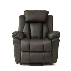 Handicap Lift Chair Recliner Bedroom Cream Faux Leather Massage Rise Mobility Tilt Arm