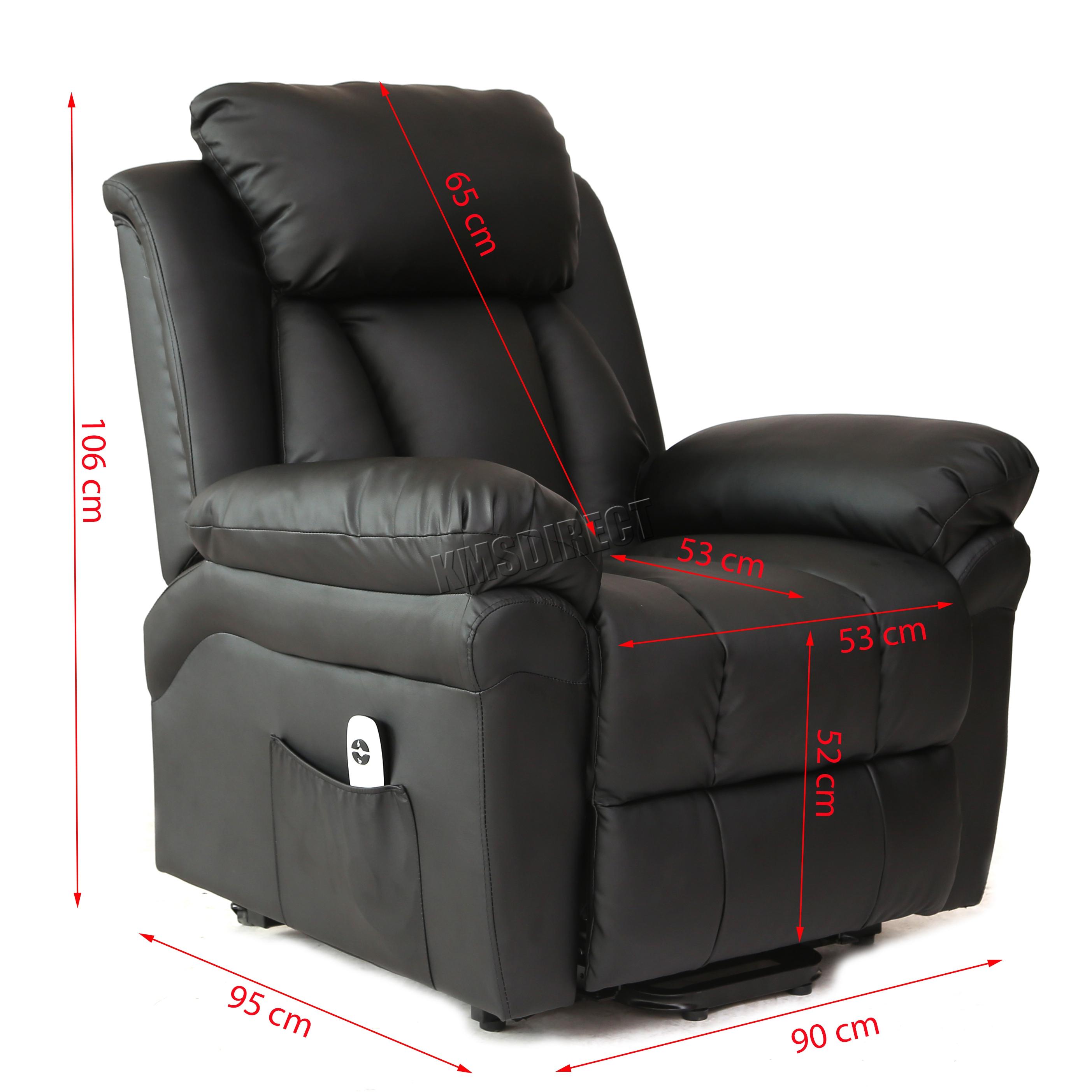 handicap lift chair recliner wheelchair wheels faux leather massage rise mobility tilt arm