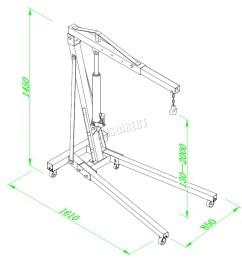 sentinel foxhunter 1 ton hydraulic folding engine crane hoist lift jack sx0103 2 black [ 1300 x 1300 Pixel ]