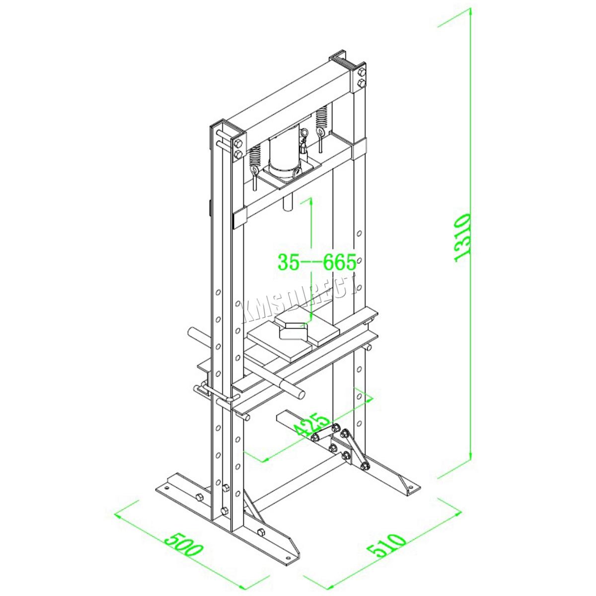 Foxhunter 12 Ton Hydraulic Garage Workshop Shop Press