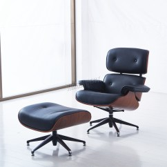 Black Leather Club Chair And Ottoman Movie Theater Chairs Foxhunter Luxury Lounge Genuine