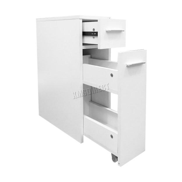 westwood slimline bathroom slide out storage drawer cabinet cupboard