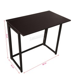 Portable Study Chair Outdoor Wicker Chairs Uk Foxhunter Foldable Computer Desk Folding Laptop Pc Table