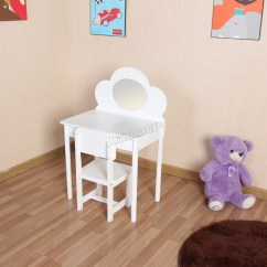 Professional Makeup Chair Uk Sofa Loveseat Two Chairs Foxhunter Kids Girls Dressing Table Set