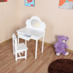 Professional Makeup Chair Uk Clear Ghost Armchair Foxhunter Kids Girls Dressing Table Set