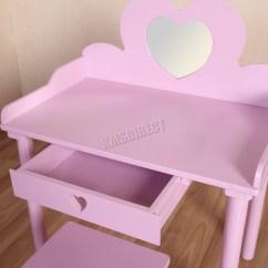 Professional Makeup Chair Uk Covers Scotland Foxhunter Kids Girls Dressing Table Set