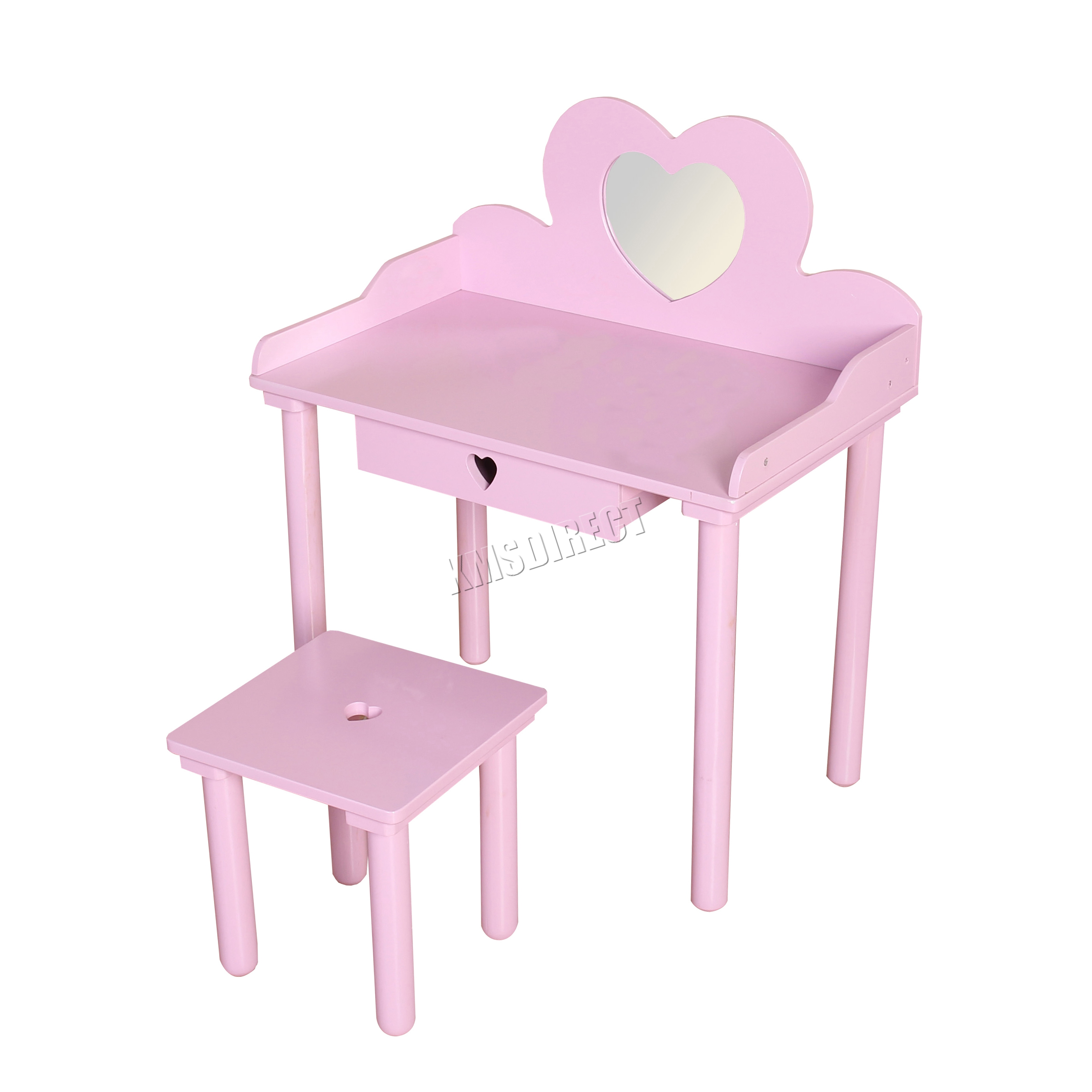 Vanity With Mirror And Chair Foxhunter Kids Girls Dressing Table Chair Set Makeup