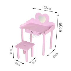 Professional Makeup Chair Uk Industry West Chairs Foxhunter Kids Girls Dressing Table Set
