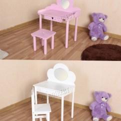 Bedroom Chair With Table Teak Outdoor Foxhunter Kids Girls Dressing Set Makeup