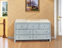 FoxHunter Mirrored Furniture Glass With Drawer Chest ...