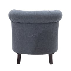 Tub Chair Grey Covers Wedding Yorkshire Foxhunter Linen Fabric Armchair Dining Living