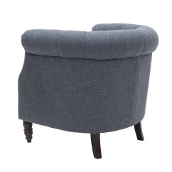 Tub Chair Grey Oak Kitchen Table And Chairs Foxhunter Linen Fabric Armchair Dining Living