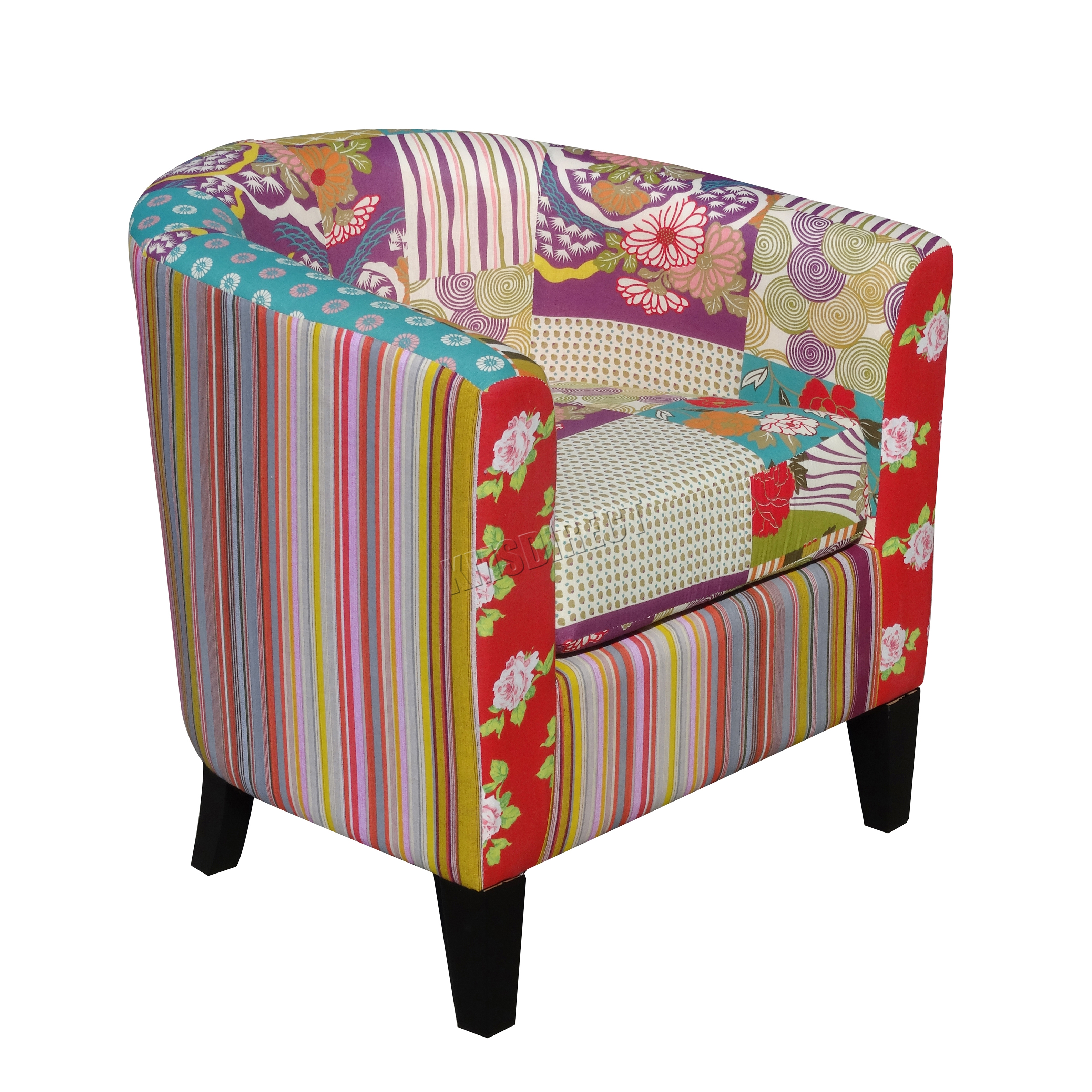 tub fabric accent chair patchwork mats for hard floors foxhunter vintage armchair seat