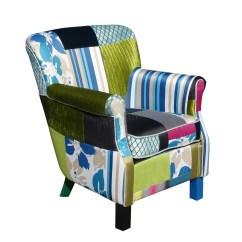 Vintage Bedroom Chair Ebay Zeta Desk Foxhunter Patchwork Fabric Armchair Seat