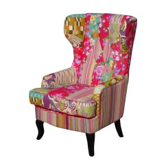 Vintage Bedroom Chair Ebay Director Covers Diy Foxhunter Patchwork Fabric Armchair Seat