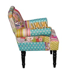 Vintage Bedroom Chair Ebay Bar Stool Chairs Ikea Foxhunter Patchwork Fabric Armchair Seat