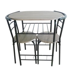 2 Chair Kitchen Table Set Counter Island Foxhunter Compact Dining Breakfast Bar