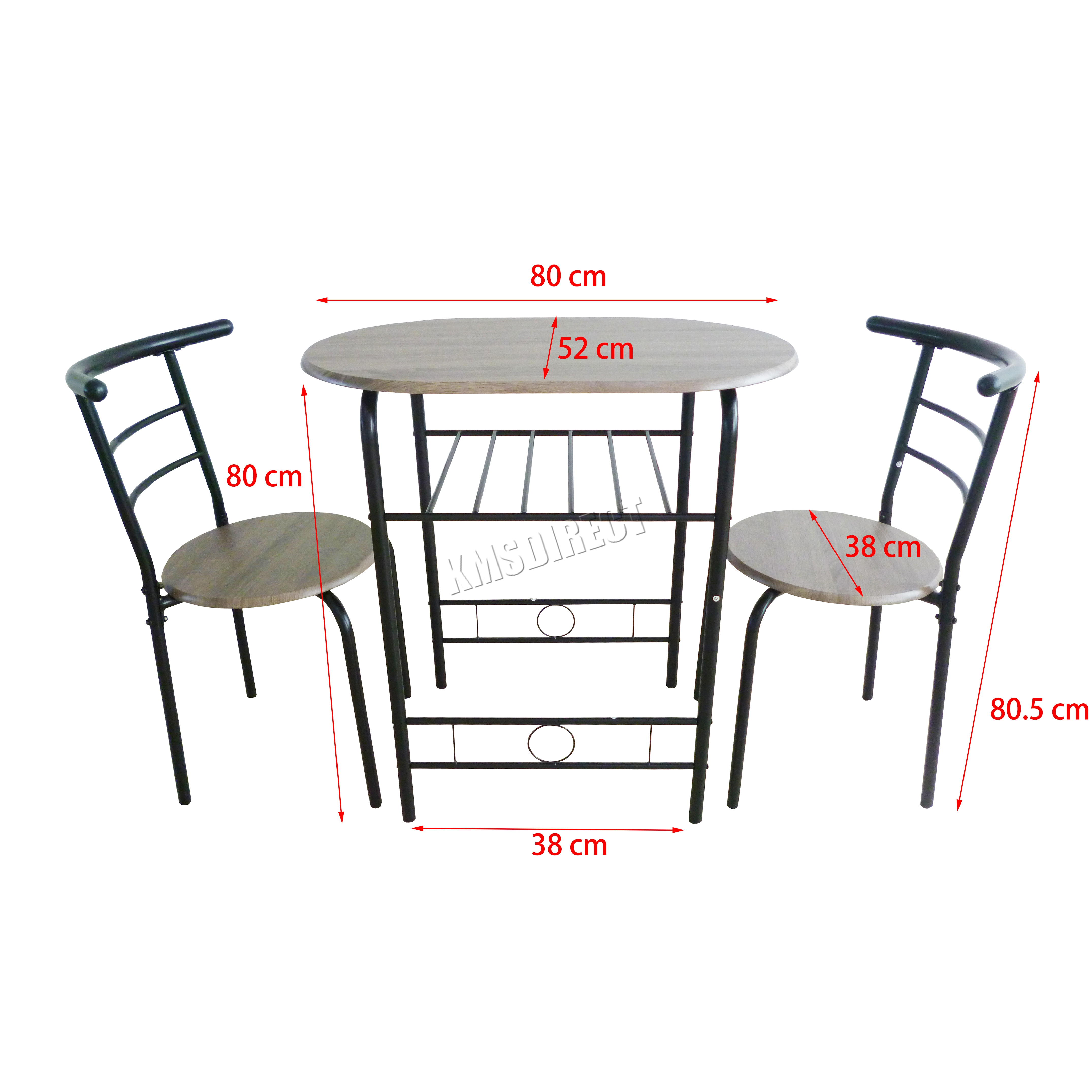 aluminum kitchen chairs full foxhunter compact dining table breakfast bar 2 chair set
