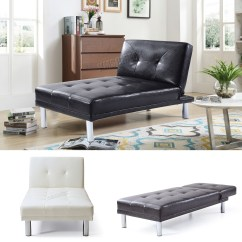One Sofa Bed Modern With Metal Legs Westwood Chaise Longue Single 1 Seater Couch Faux