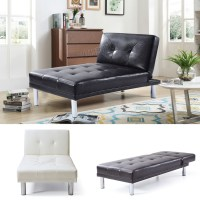 FoxHunter Chaise Longue Single Sofa Bed 1 Seater Couch ...