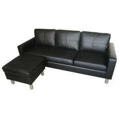 Corner Sofa Bed Chaise Longue Lounge Furniture Foxhunter Modern Pu L Shaped 3 Seater With