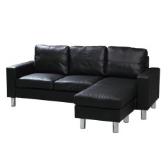 Corner Sofa Bed Chaise Longue Brand Name Sofas Foxhunter Modern Pu L Shaped 3 Seater With