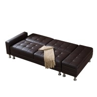 FoxHunter PU Sofa Bed With Storage 3 Seater Guest Sleeper ...