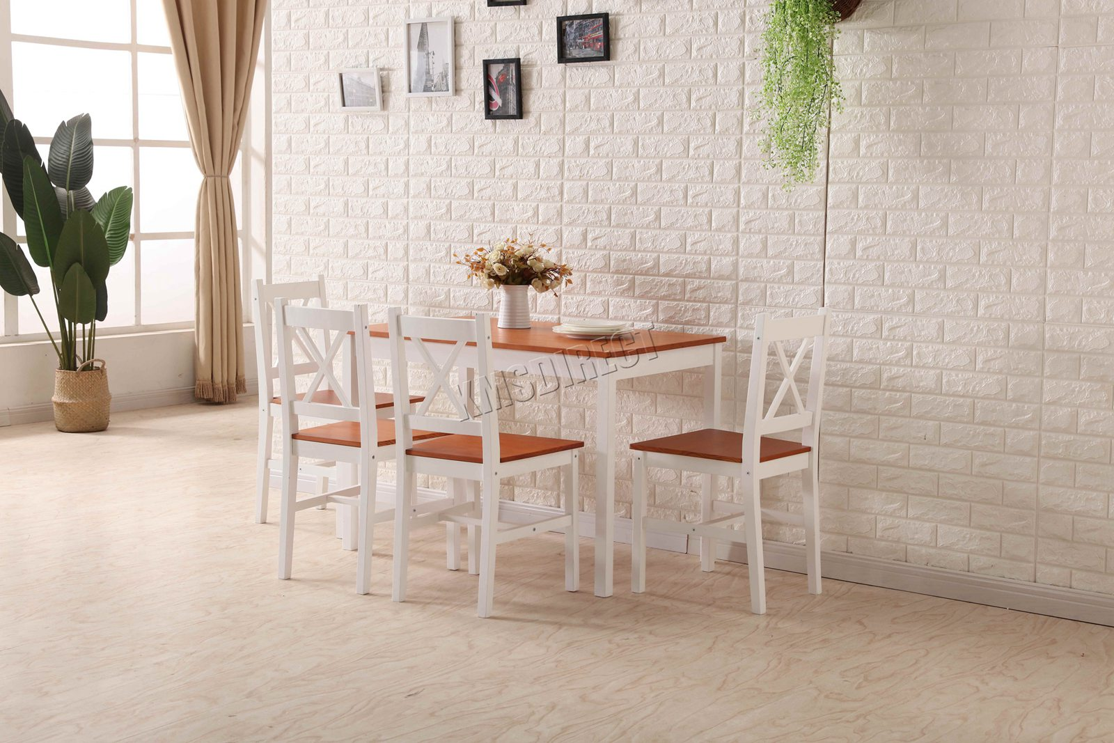 Kitchen Chairs Wood Details About Westwood Quality Solid Wooden Dining Table And 4 Chairs Set Kitchen Home Ds03