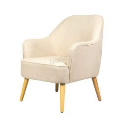 Modern Lounge Chairs Uk Nailhead Trim Dining Foxhunter Linen Fabric Tub Chair Armchair Living