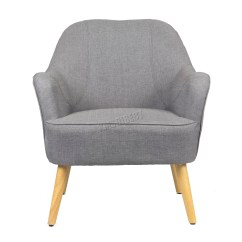 Tub Chair Grey Indoor Wicker Glider Foxhunter Linen Fabric Armchair Dining Living