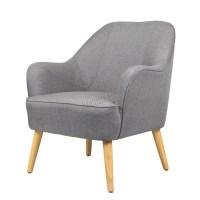 FoxHunter Linen Fabric Tub Chair Armchair Dining Living ...